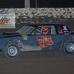 Jerry Legner and his No. 75 on their way to victory.