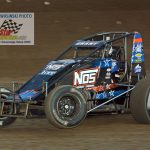 Justin Grant and his No. 4 finished third in the feature after having second fast time during qualifying.  Grant won Wednesday night which kicked off Kokomo's Sprint Car Smackdown.