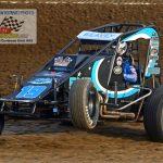 "Logan Seavey (#19) had the ""wheels up"" during qualifying."