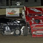 3 Dylan Woodling Frank Marshall First lap Wreck