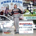 Nick Allen in victory circle after his modified feature win - his second of the season.