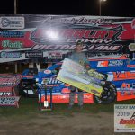in the 30 lap Modified feature, Mike McKinney earned his eighth Fairbury Speedway win.