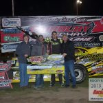 Dakota Ewing took his first ever Fairbury Speedway feature win in the 25 lap, Pro Late Model race.