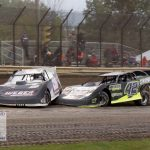 Slight contact during the late model feature.
