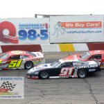 Steve Apel (#51) tries to stay ahead of Ty Majeski #91) and Casey Johnson (#50).