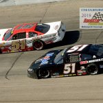 Stephen Nasse led 392 laps with Chandler Smith (#51) getting real close a time or two at taking the lead away.