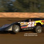 Eddie Leviner on the gas at Kamp Speedway in 2006.