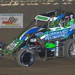 Teenager Chase McDermand (#40) won the Badger midget championship.