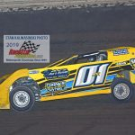 Greg Cantrell Jr. (#01) captured his first career super late model track championship at the Sycamore Speedway.