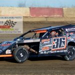 Jamie Lomax won DIRTcar modified track titles at both Illinois' Kankakee County Speedway and at Indiana's Shadyhill Speedway.