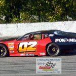 Woody Pool (#02) was a big winner in Midwest vintage stock car racing.