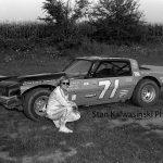 Bill Davis poses for the camera at Rensselaer Raceway in 1979.  (Stan Kalwasinski Photo)