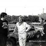 Early in the 1979 season, Bill Davis goes over things with his crew members – Larry Underwood (left) and Dudley Coleman (right).  (Bill Davis Collection)