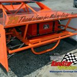 Photo of the Bill Davis tribute late model, a car built by Davis himself back in the day, that was recently completed by Mike Hollifield of Buzzard Race Cars. (Stan Kalwasinski Photos)