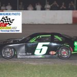 Brett Sontag (#5) posted his fifth career late model track championship at the Grundy County Speedway.