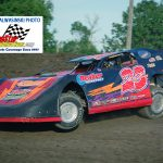 For the third time, Ted Loomis (#23) was the late model division titlist on the dirt at the Kankakee County Speedway.