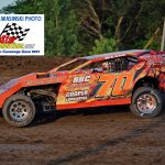 Vince Cooper (#70) was the UMP Modified champion at the LaSalle Speedway.  It was Cooper's fourth modified championship at the LaSalle oval.