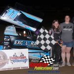 Restricted Class feature winner Kayla Martin with mom and dad.