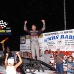 Some happiness in victory lane after Nick's victory!