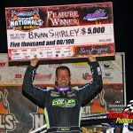 Late Model feature winner Brian Shirley.