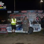 After taking the win at Kankakee on Friday, Zachary Zuberbier led flag to flag in winning the Street Stock contest.
