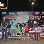 Billy Drake was the winner in a controversially Late Model race, as race leader, Drake, and challenger McKay Wenger made contact in the closing laps. Wenger's car had to be towed off as Drake took his first FALS Cup win of the year.