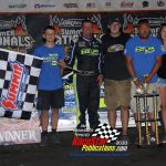 Late Model feature winner Brian Shirley