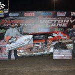 """Jeremy Nichols winner of the $2000 to win """"Earl J. Hubert"""" Street Stock Memorial race"""
