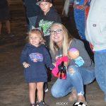 Brandon Sheppard's,fiance Mikala Grandfield and daughter, Addison wait to celebrate the win.