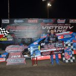 A last lap pass, netted Mike McKinney the Modified feature win.