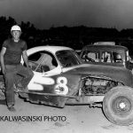 Erik Johnson and an early Martinelli Brothers stock car No. 8 (Stan Kalwasinski Collection)