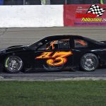 Mike White returned to late model action at Grundy after missing a good part of the shortened season.  White's car owner Ray Wroblewski numbered his car this year 'A3' in memory of the late Wisconsin modified star Johnnie Reimer.