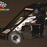 Nick Baran (#11) started the night 22 points behind Chase McDermand in the battle for the Badger championship.  He finished third in the 25 lapper.