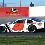 Rich Bickle Jr. and his No. 45 on their way to grabbing fast time honors during qualifications.