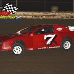 Ron Hintzche and his No. 7 Dodge Challenger street stock