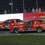 Father and Son battle during the street stock feature – Scotty Gardner (#13) tries to stay ahead of his Dad, Scott (#113).