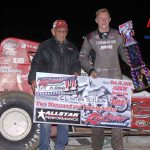 Non wing sprint feature winner Clinton Boyles and forever car owner Paul Hazen