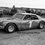 "Ted Janecyk pretty much raced at his ""home track"" Raceway Park but also competed at other area raceways.  He is pictured here at Indiana's Illiana Motor Speedway in 1967.  (Stan Kalwasinski Photo)"