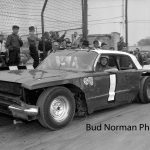 Ted Janecyk and his Bill Koenig-owned '64 Chevy No. 1 at Raceway Park on opening day 1964.  (Bud Norman Photo)