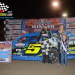 Tyler Nicely opened defense of his 2020 AMS Modified championship by earning a hard fought win.