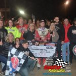 Reclaiming the lead on the white flag lap, Bobby Pierce claimed his first ever WOO victory.