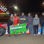 Aaron Heck led flag to flag to pick up the $1000 to win, Pro Late Model feature.