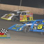 Defending track champion #37L Michael Ledford started in the 12th position rallied to challenge for the lead before finishing in second to eventual winner, #25 Tyler Nicely