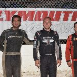 Modified feature left to right: Derek Losh winner, Dylan Woodlling second, Bobby Stremme third.