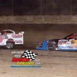 Lee Hobbs got this close to winner Kyle Moore during the feature.