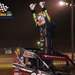 Sprint Car feature winner Kevin Thomas Jr.
