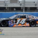 """Austin Nason and his No. 14 finished third.  Nason won the ARCA Midwest Tour race at the """"Milwaukee Mile"""" the last time the series competed there in 2019."""