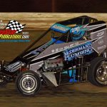Two-time and defending Badger midget champion Chase McDermand finished second in the 25-lap midget main event.