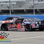Luke Fenhaus (#4) racing with Carson Kvapil (#35).