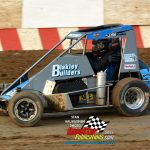 Zach Boden and his No. 51 were fast qualifiers for the Badger midgets,